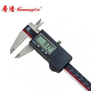 广陆IP67防水电子数显卡尺0-300mm