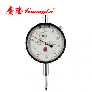 广陆 0-10mm百分指示表(带耳防震)