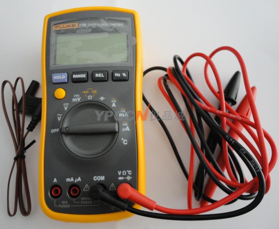 在工作中,您需要一款耐用、可靠且准确的数字万用表。 Fluke 17B+ 数字万用表可满足甚至超出您的需求。 常见的基本测量以及温度、频率和占空比测量。 Fluke 17B+ 易于使用,只需要一只手操作,甚至在带手套的时候也可以灵活操作,可满足您的所有需求。